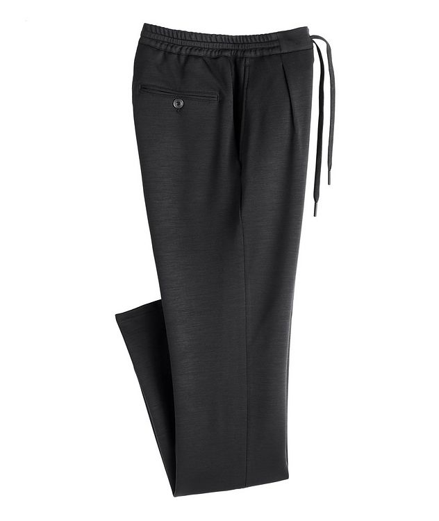 Slim Fit Stretch-Wool Drawstring Joggers picture 1
