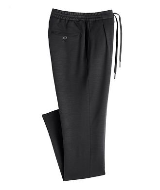 Canali Slim Fit Stretch-Wool Drawstring Joggers