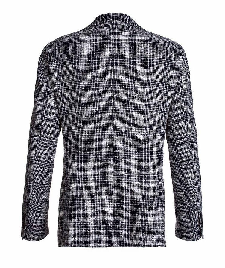 Mini-Check Linen-Blend Sport Jacket image 1