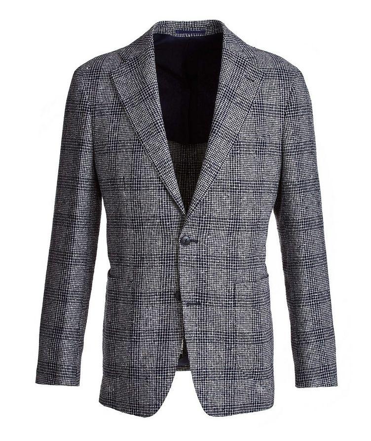 Mini-Check Linen-Blend Sport Jacket image 0