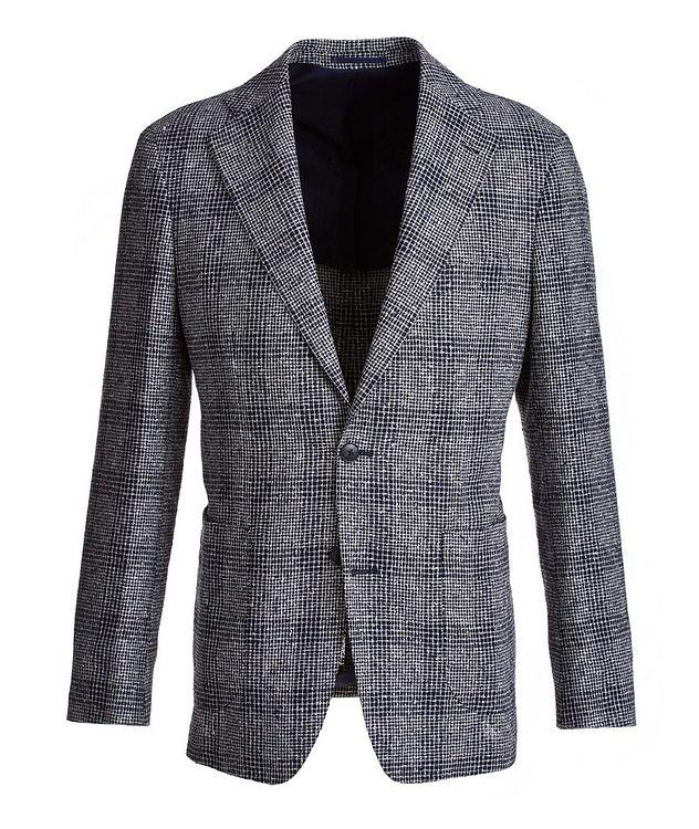 Mini-Check Linen-Blend Sport Jacket picture 1