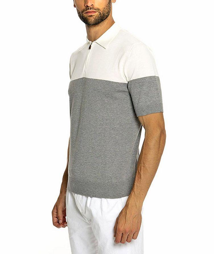 Quarter-Zip Knit Cotton Polo image 2