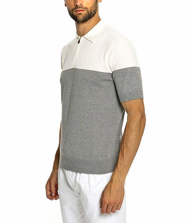 Quarter-Zip Knit Cotton Polo picture 3
