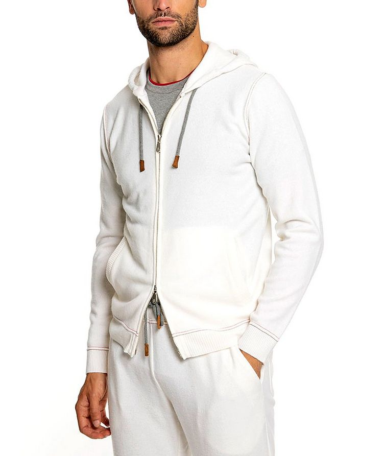 Wool-Cashmere Zip-Up Hoodie image 1