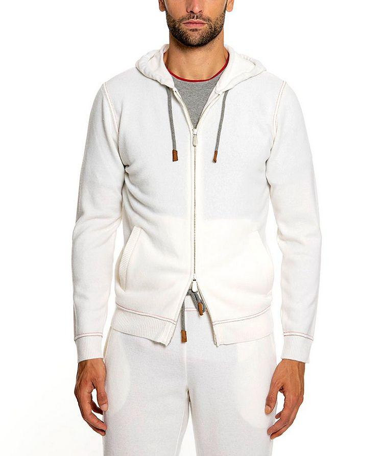 Wool-Cashmere Zip-Up Hoodie image 0