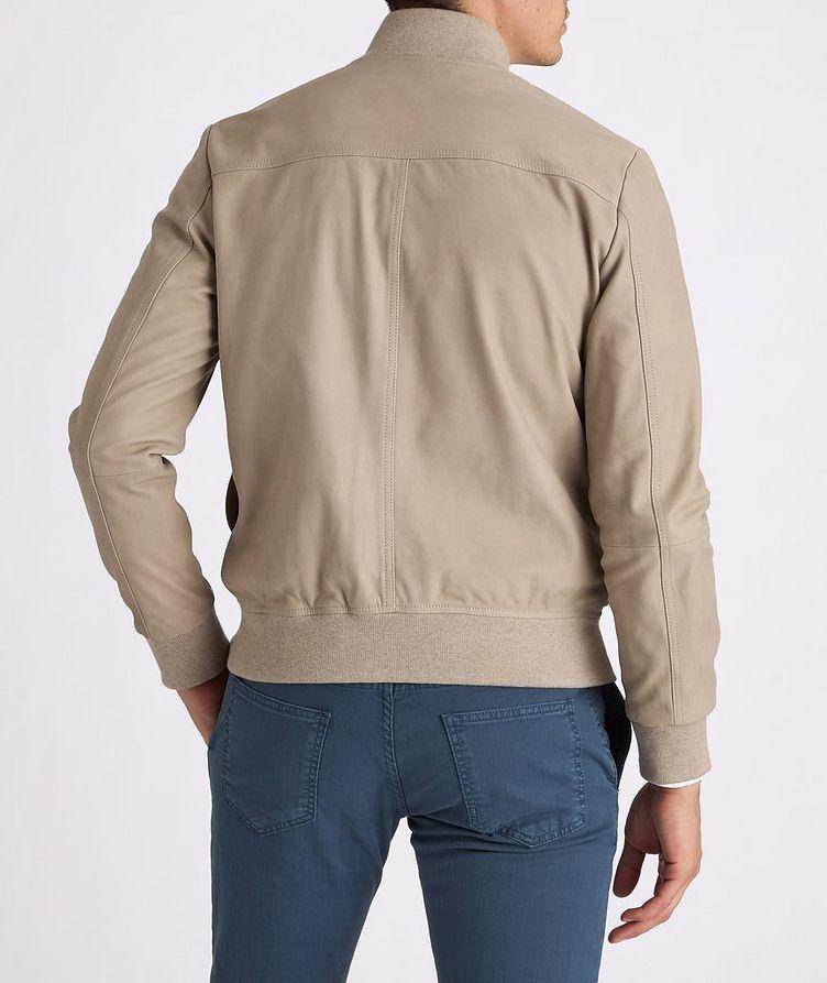 Leather Bomber Jacket image 4