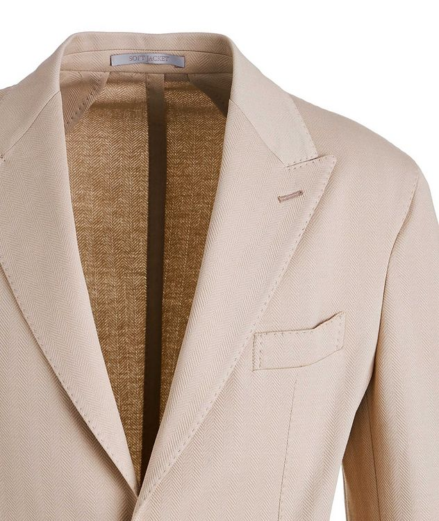 Soft Herringbone Cotton Sports Jacket picture 3