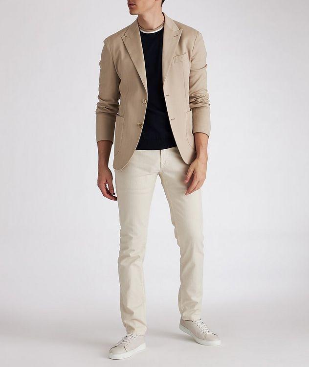Soft Herringbone Cotton Sports Jacket picture 4