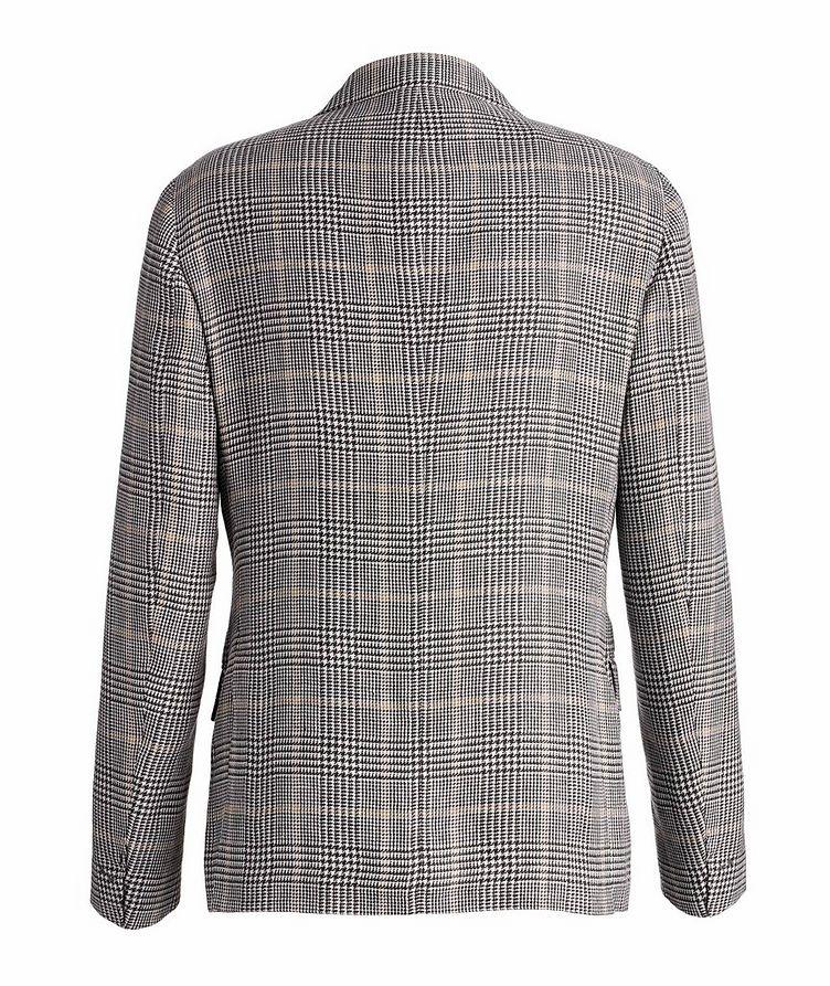 Linen-Wool-Silk Houndstooth Sports Jacket image 1