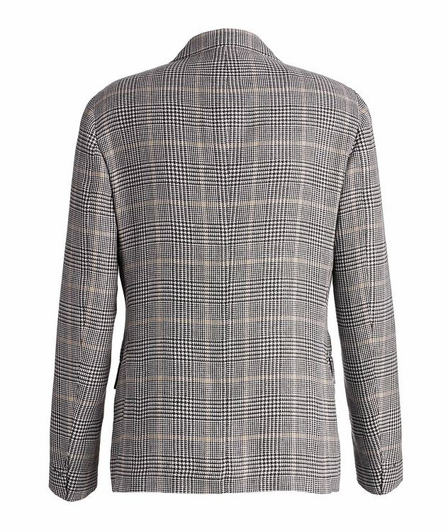 Linen-Wool-Silk Houndstooth Sports Jacket picture 2