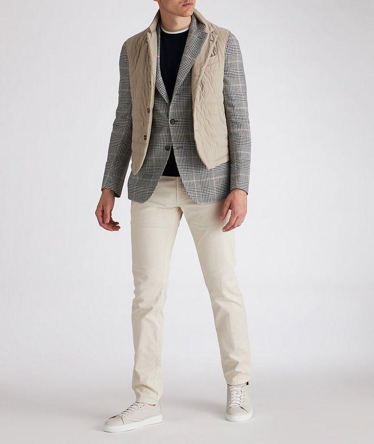 Linen-Wool-Silk Houndstooth Sports Jacket image 3
