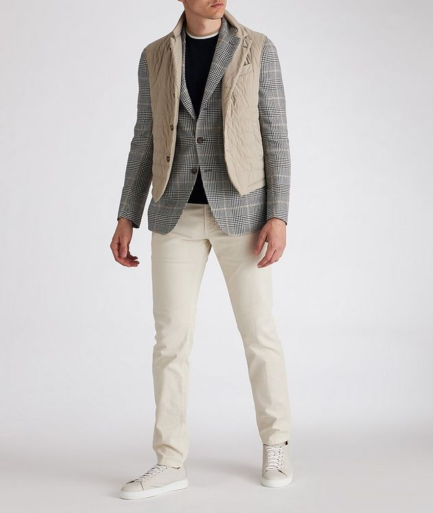 Linen-Wool-Silk Houndstooth Sports Jacket picture 4