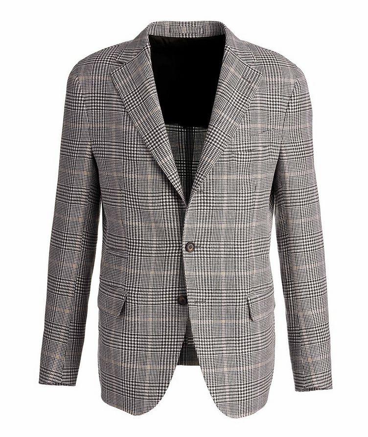 Linen-Wool-Silk Houndstooth Sports Jacket image 0