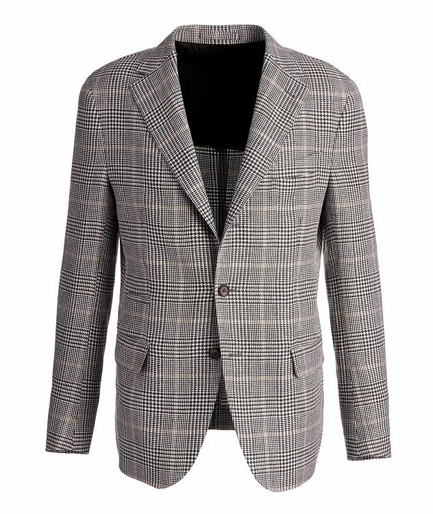 Linen-Wool-Silk Houndstooth Sports Jacket picture 1