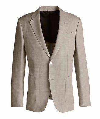 Ermenegildo Zegna Milano Easy Wool, Silk, and Linen Sports Jacket