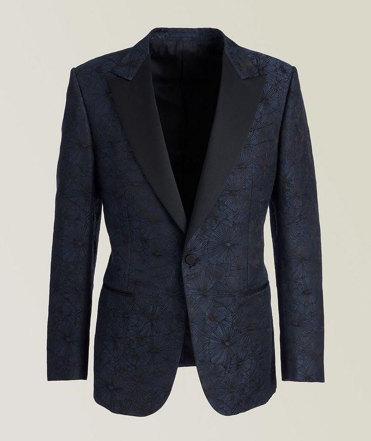 Venezia Floral Linen-Silk Tuxedo Jacket image 0