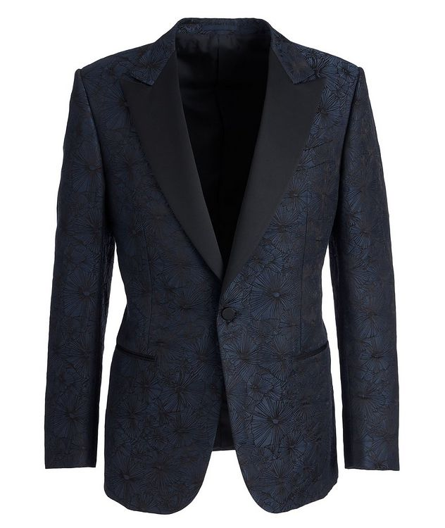 Venezia Floral Linen-Silk Tuxedo Jacket picture 1
