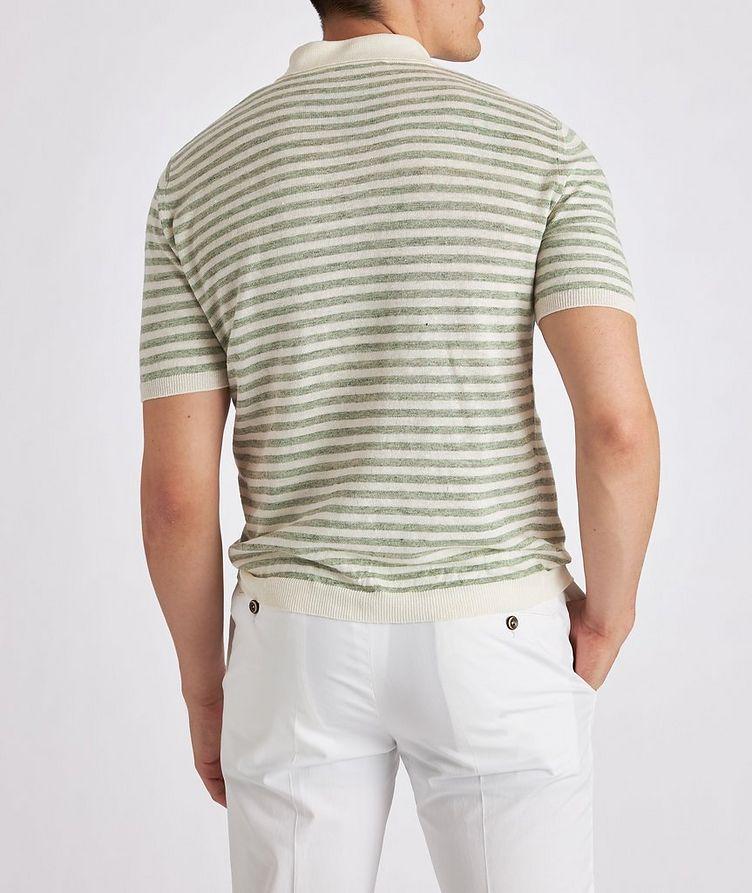 Striped Knit Linen Polo image 2