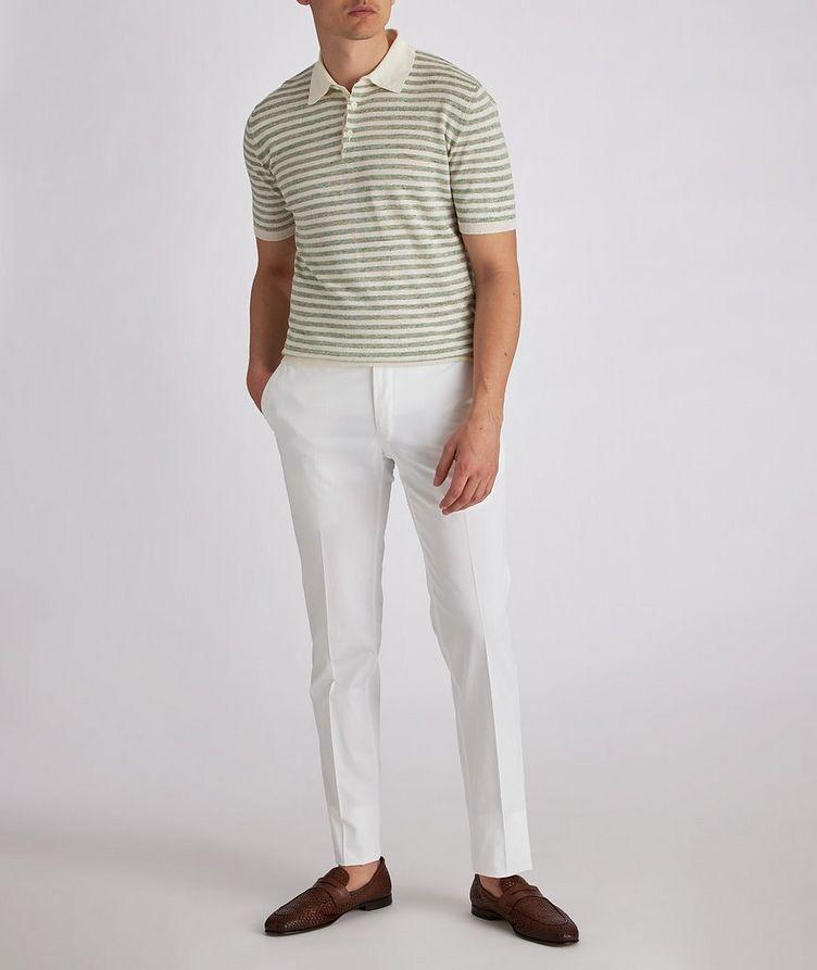 Striped Knit Linen Polo image 3
