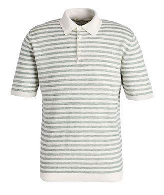 Maurizio Baldassari Striped Knit Linen Polo