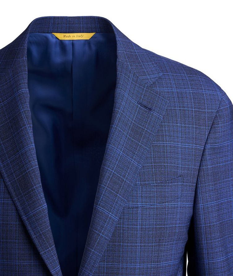 Impeccable Slim-Fit Wool Checked Suit image 1