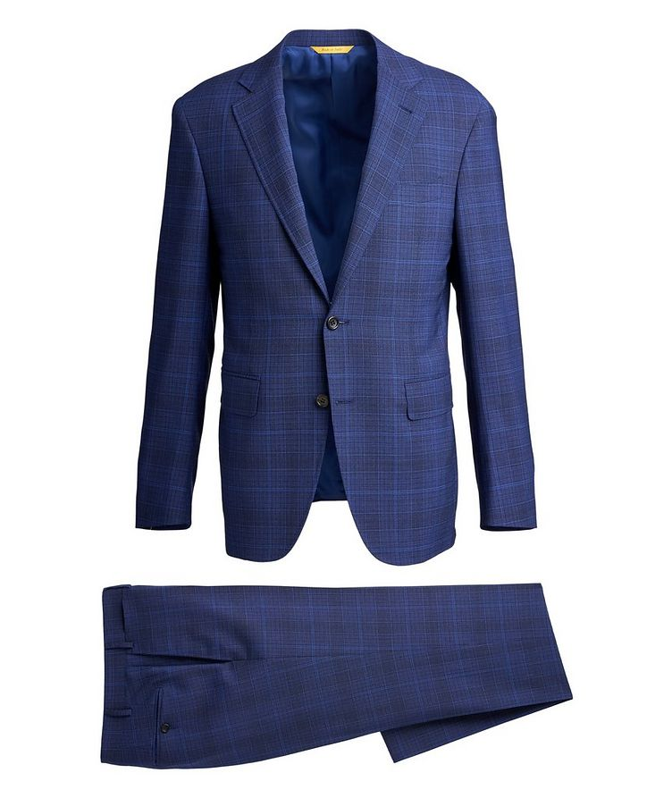 Impeccable Slim-Fit Wool Checked Suit image 0