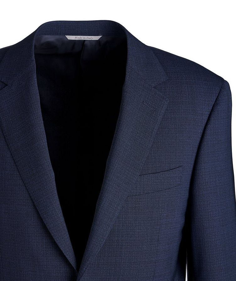 Impeccabile Micro-Grid Contemporary Fit Wool Suit image 2