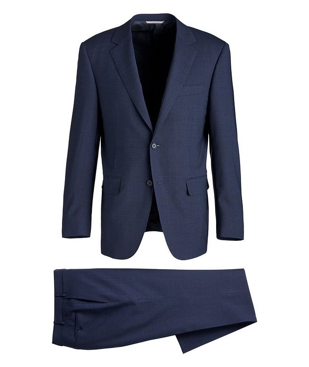 Impeccabile Micro-Grid Contemporary Fit Wool Suit picture 1