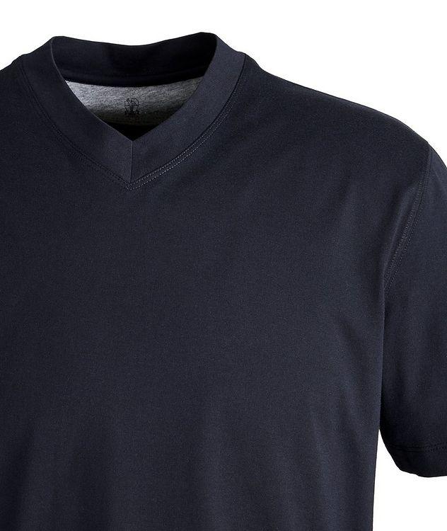 T-shirt en coton à encolure en V picture 2