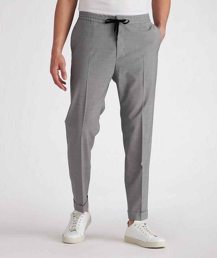 Isha Open Weave Stretch-Wool Blend Drawstring Pants image 1