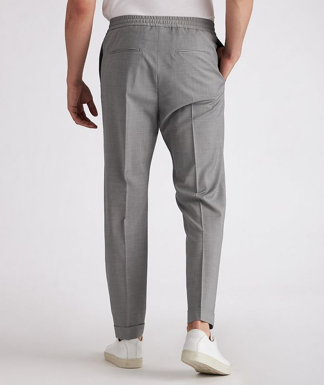 Isha Open Weave Stretch-Wool Blend Drawstring Pants picture 3