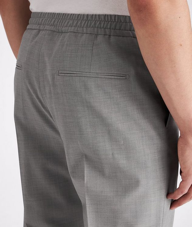 Isha Open Weave Stretch-Wool Blend Drawstring Pants picture 4