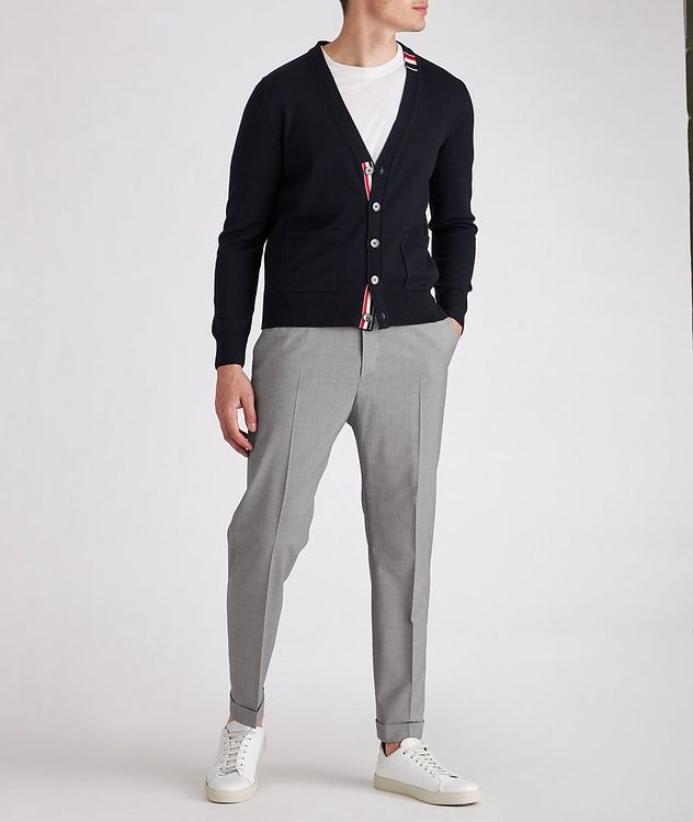 Isha Open Weave Stretch-Wool Blend Drawstring Pants picture 5