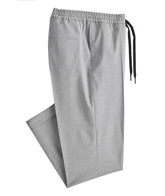 Tiger of Sweden Isha Open Weave Stretch-Wool Blend Drawstring Pants