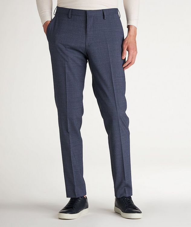 Slim Fit Checked Dress Pants picture 2