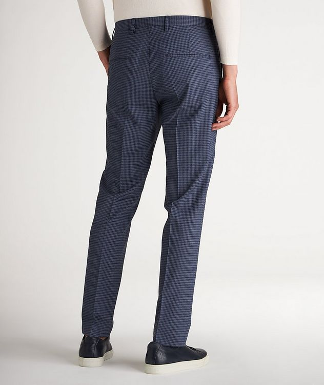 Slim Fit Checked Dress Pants picture 3