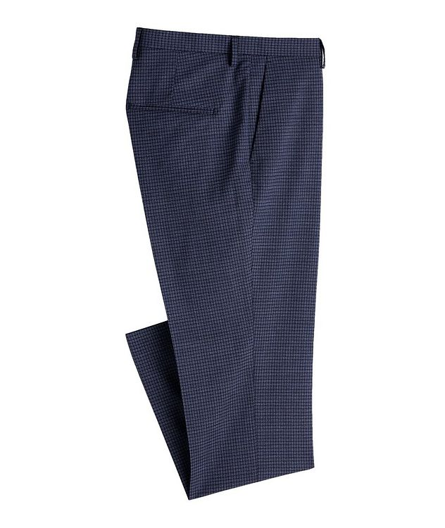 Slim Fit Checked Dress Pants picture 1