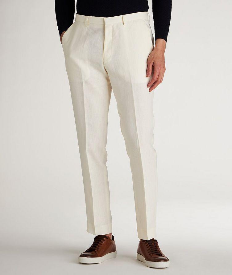 Slim Fit Linen Dress Pants image 1