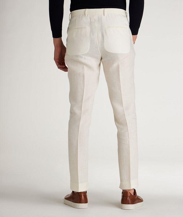 Slim Fit Linen Dress Pants image 2