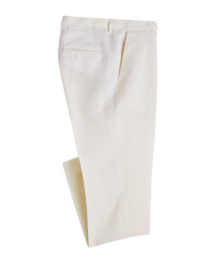 Slim Fit Linen Dress Pants image 0