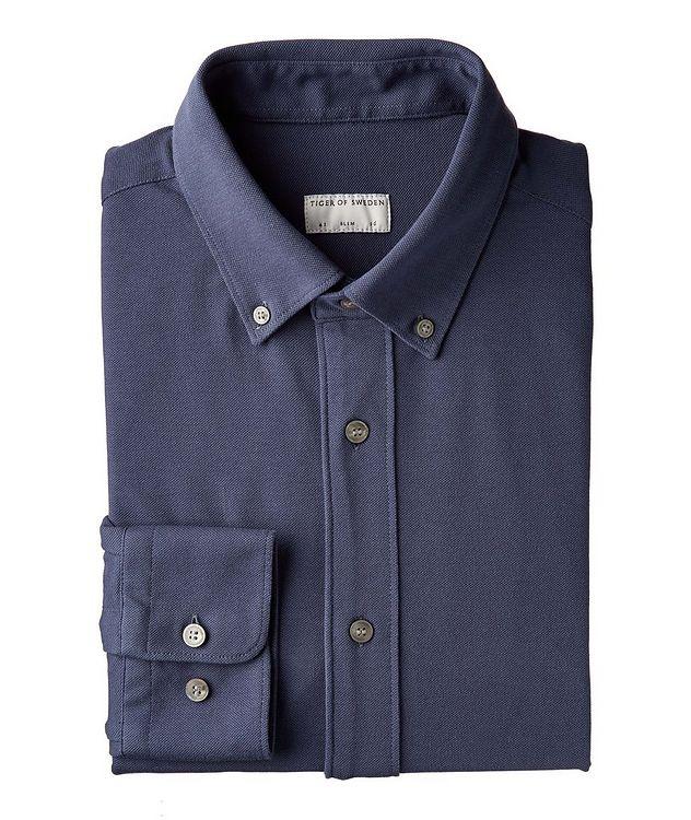 Slim-Fit Fenald Piqué Cotton Shirt picture 1