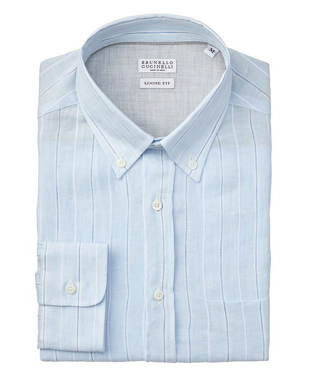 Slim Fit Striped Linen Shirt picture 1