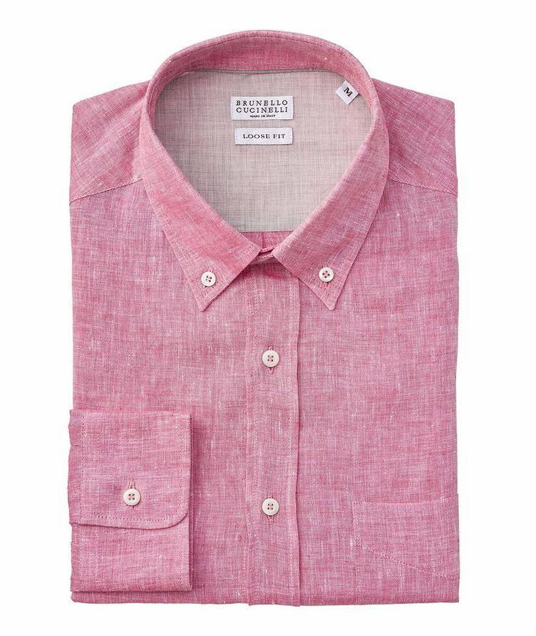 Slim Fit Chambray Linen Shirt image 0