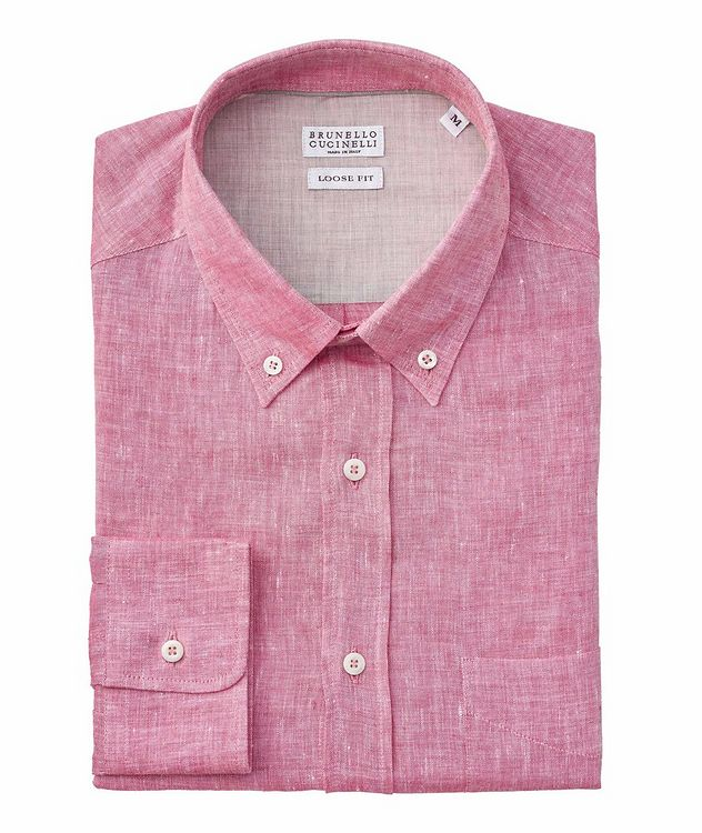 Slim Fit Chambray Linen Shirt picture 1