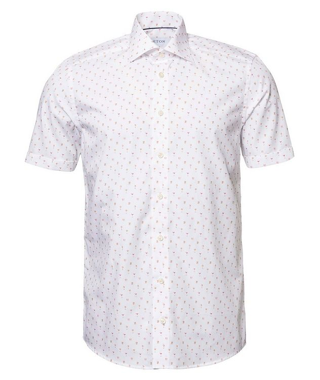 Printed Cotton Short-Sleeve Shirt picture 1
