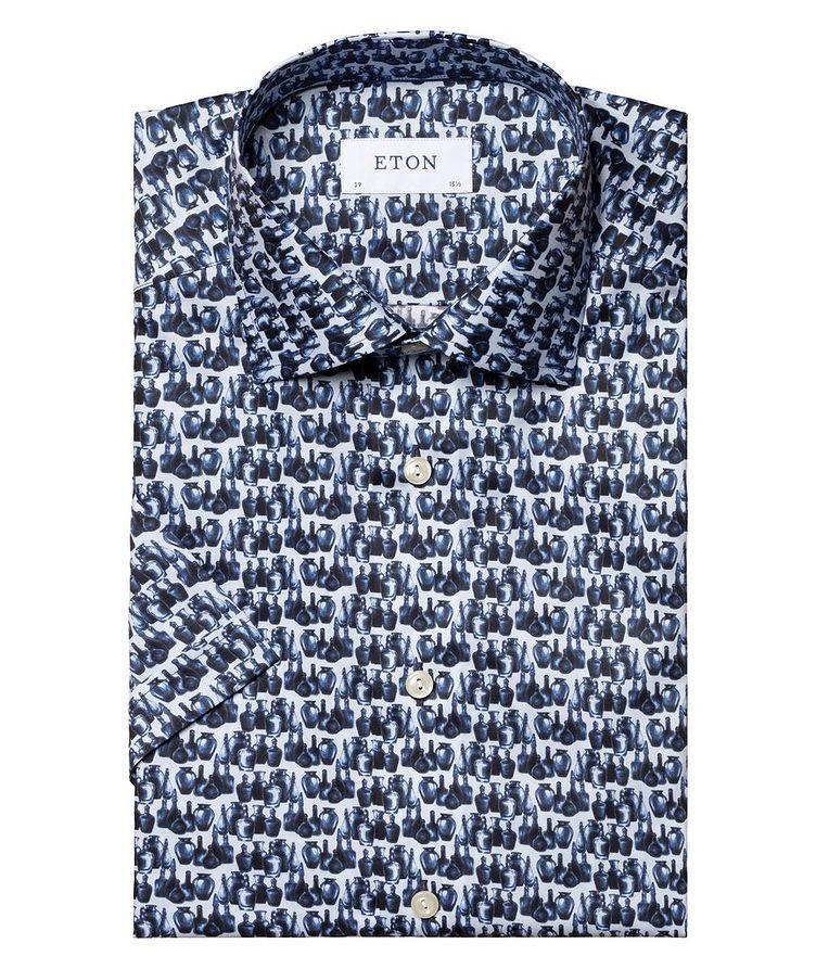 Printed Cotton Short-Sleeve Shirt image 1