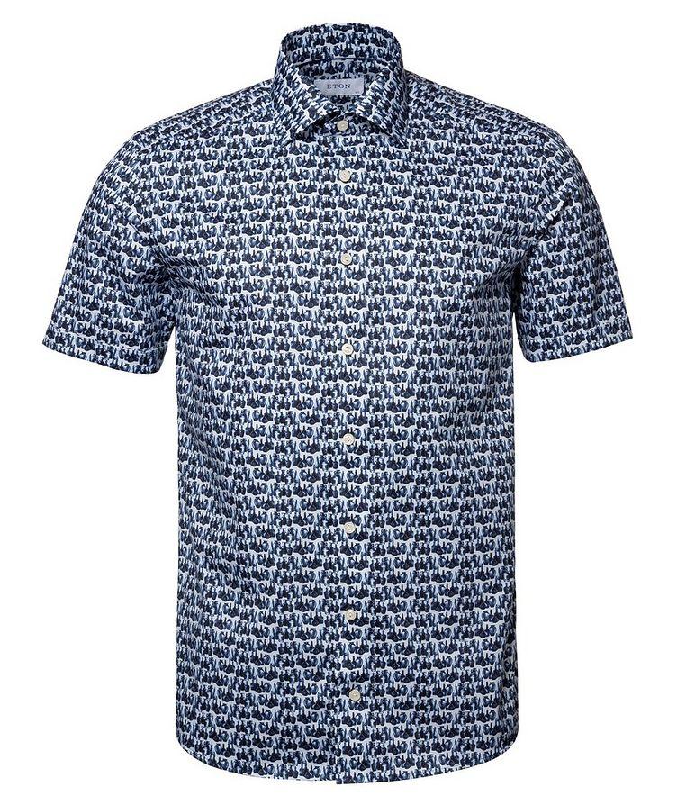 Printed Cotton Short-Sleeve Shirt image 0