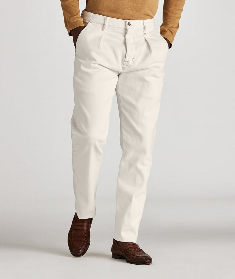 Tapered Stretch-Cotton Jeans image 1