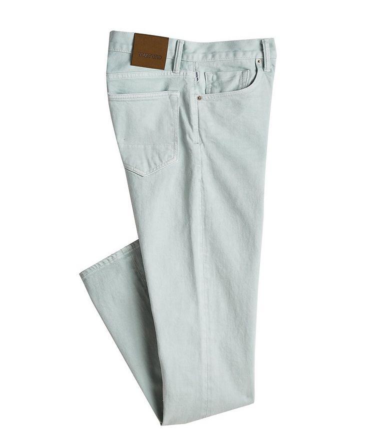 Jean en coton extensible de coupe fuselée image 0