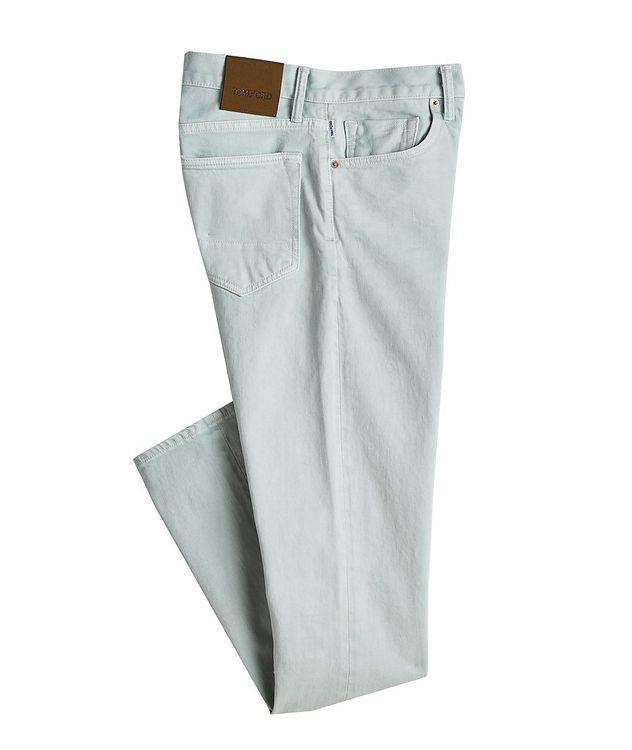 Jean en coton extensible de coupe fuselée picture 1